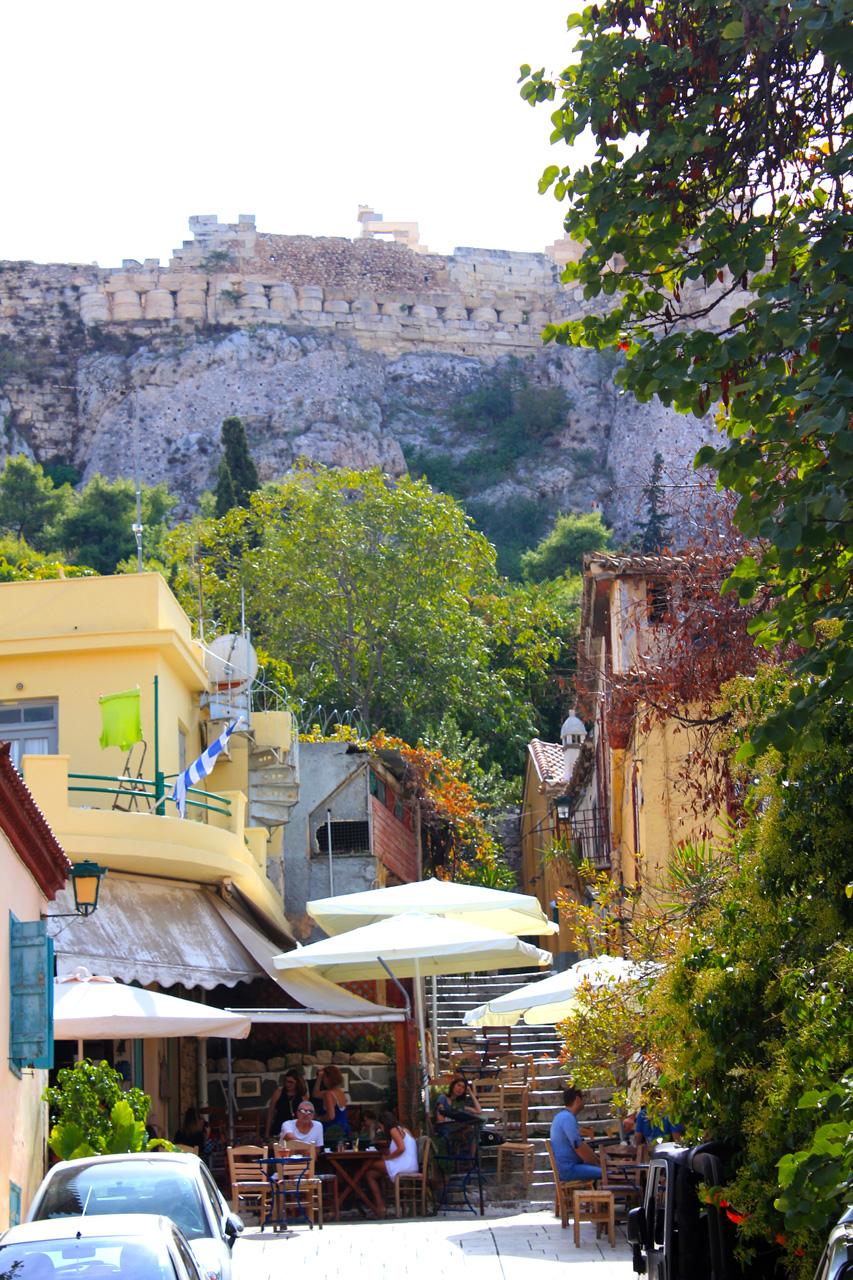 Plaka view to Acropolis