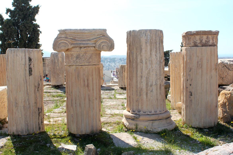 Acropolis marble columns