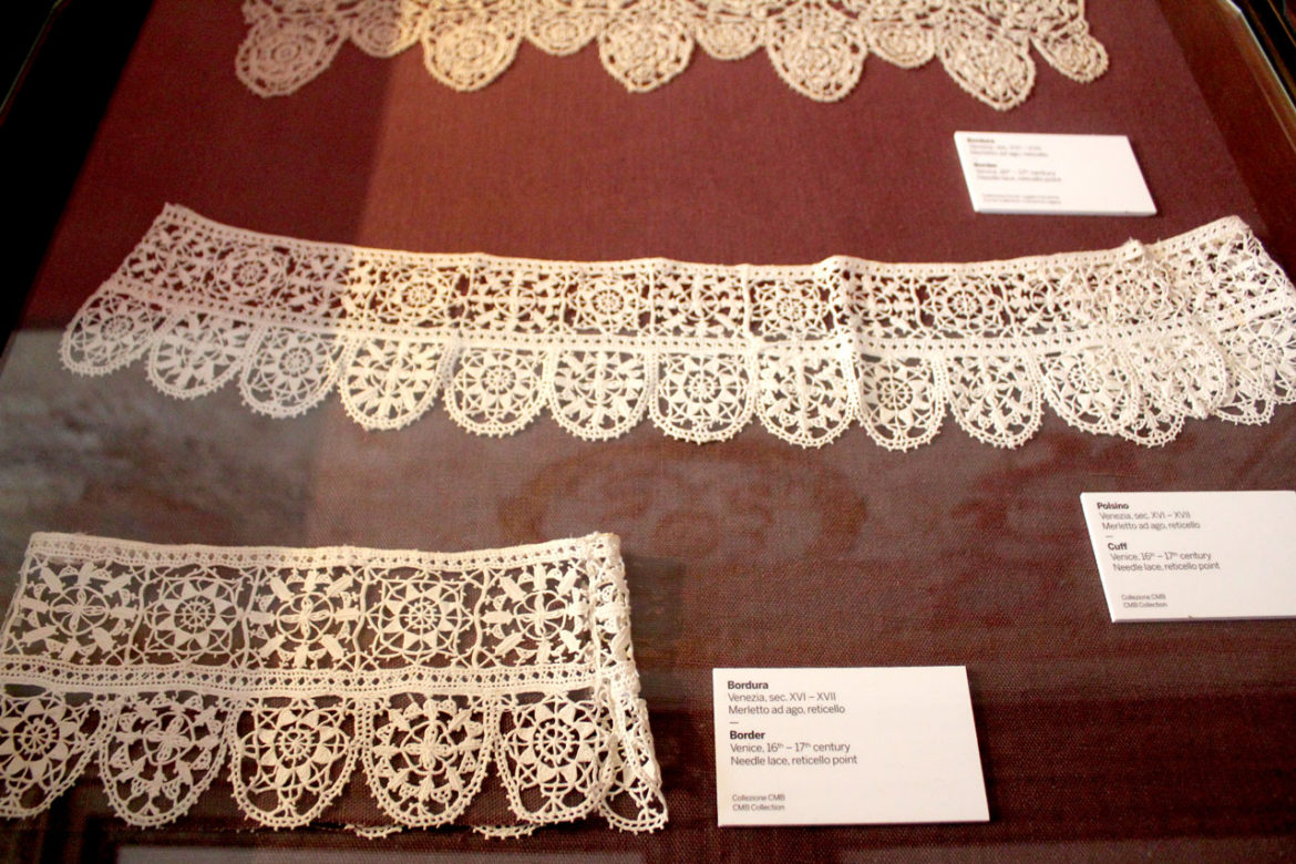 old lace in the museum