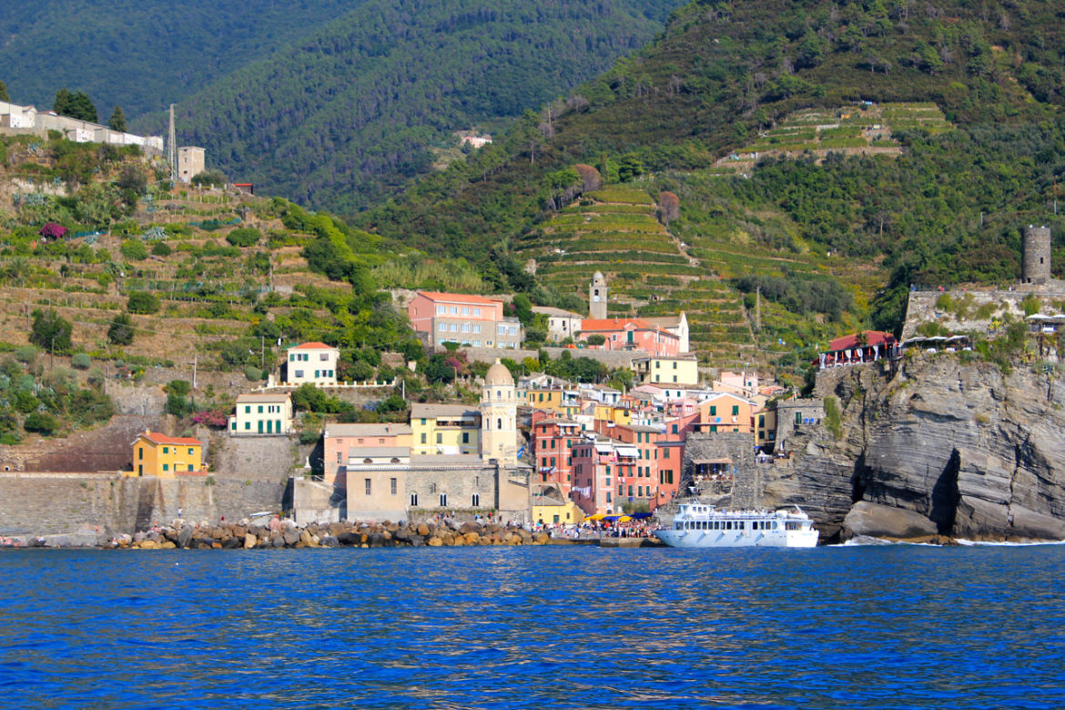 Vernazza from the water