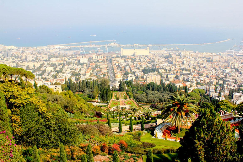 View over Bahai gardens, Haifa