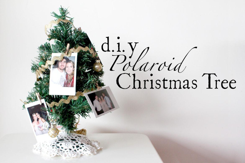 DIY Polaroid Christmas Tree Decorations