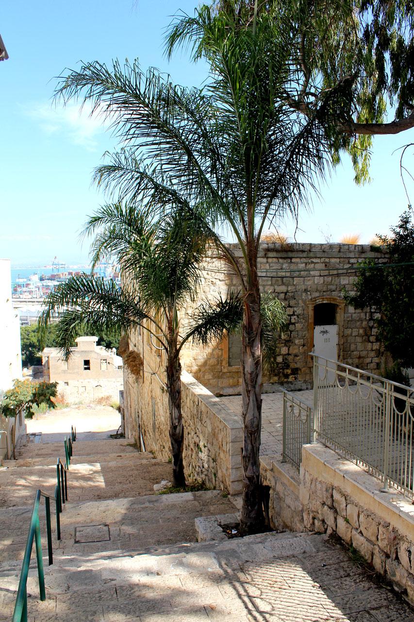 Stairs leading to German Colony, Haifa