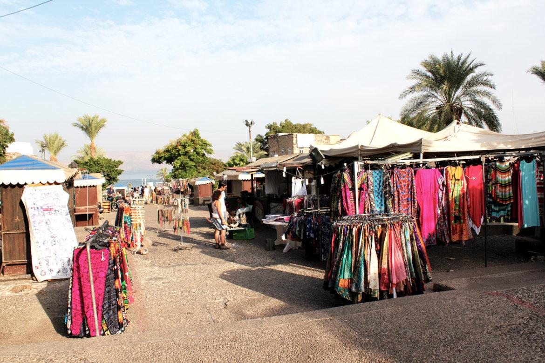 Tiberias promenade markets