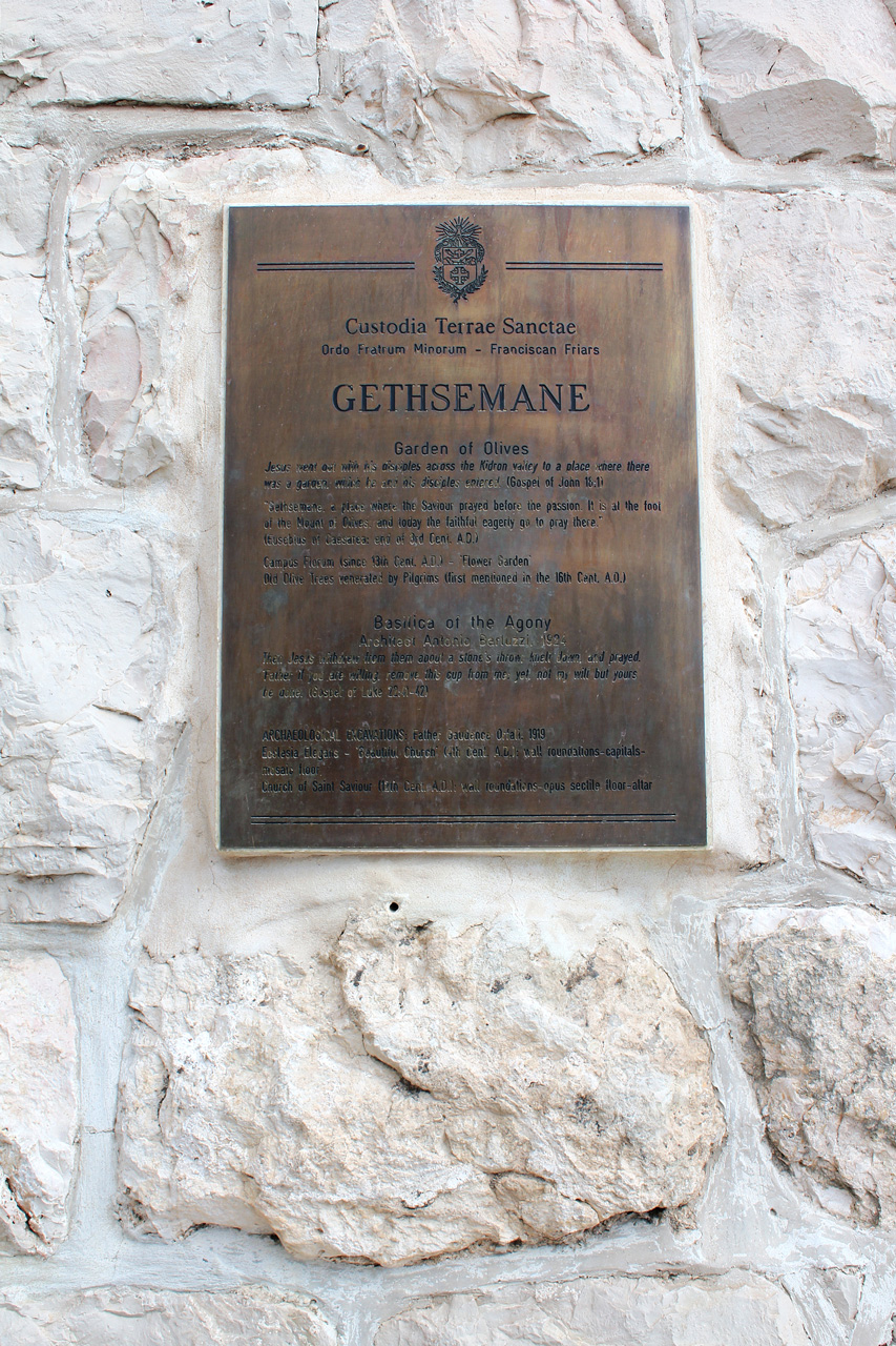 Gethsemane sign
