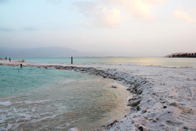 Dead Sea salt flats