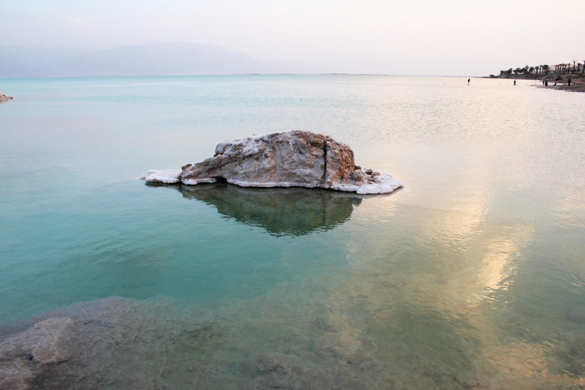 Dead Sea salt rock