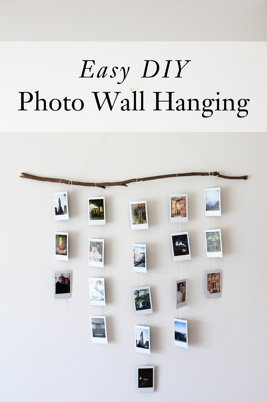 Easy Diy Photo Wall Hanging Dossier Blog