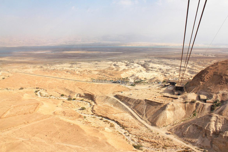 Masada view to dead sea