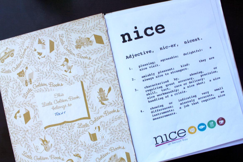 Little Golden Book menu