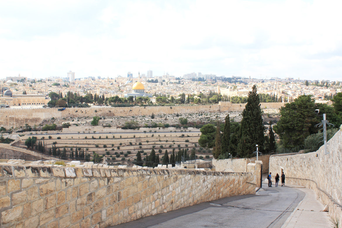 View from the Mount of Olives over Jerusalem
