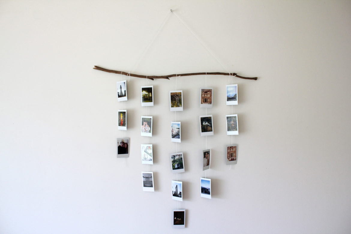 Easy and quick way to display your polaroids