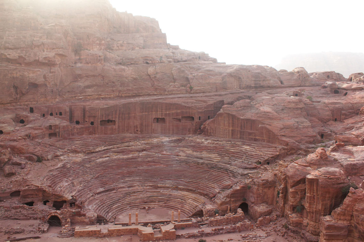 The theatre, about halfway through Petra