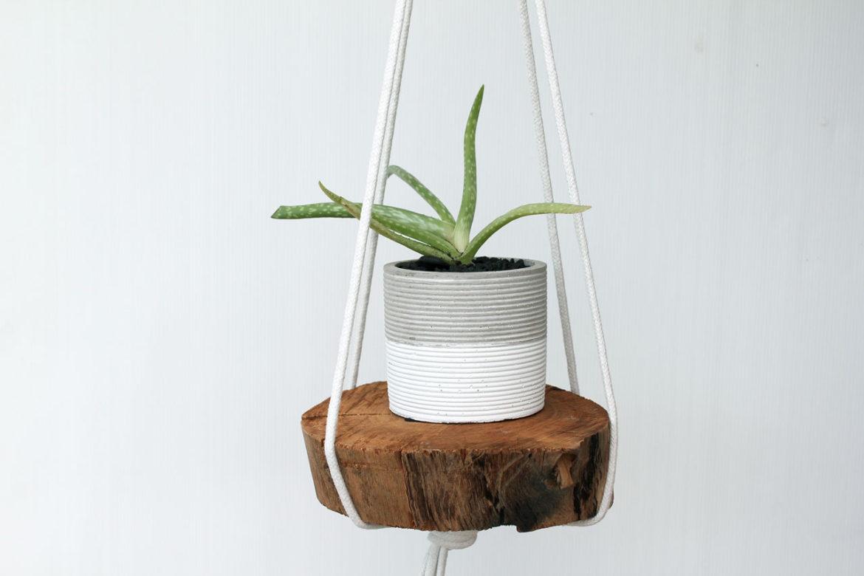 2-Material DIY, easy hanging planter shelf