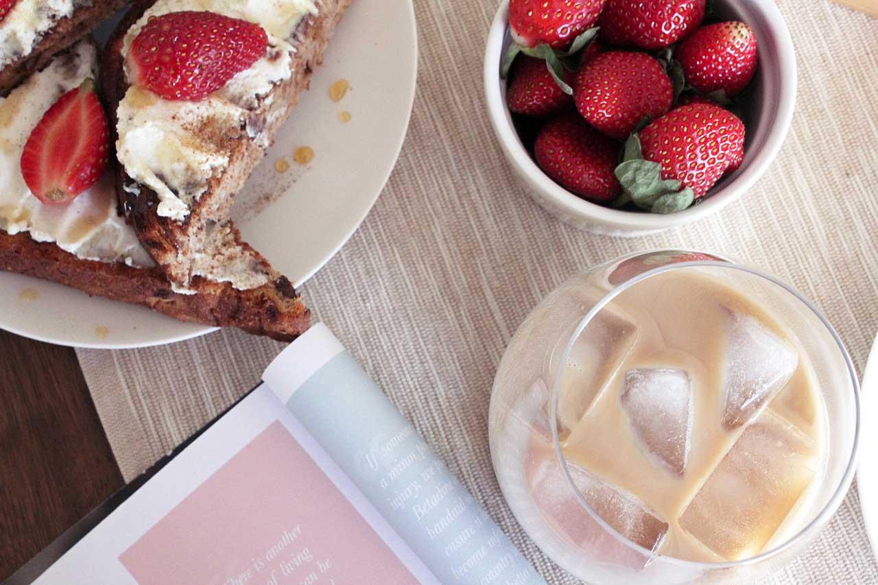 ricotta and honey raisin toast