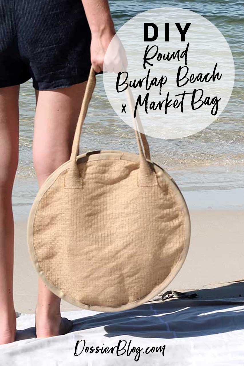 DIY Round Beach x Market Bag