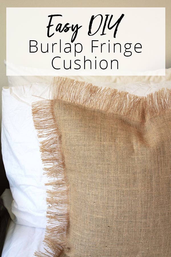 Easy DIY Burlap Fringe Cushion   Dossier Blog