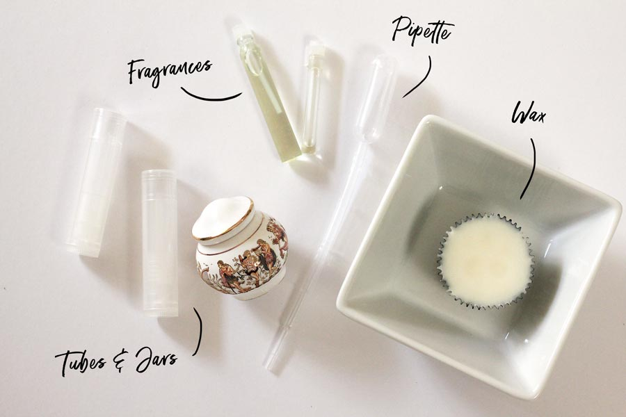 Ingredients for a solid perfume | Dossier Blog