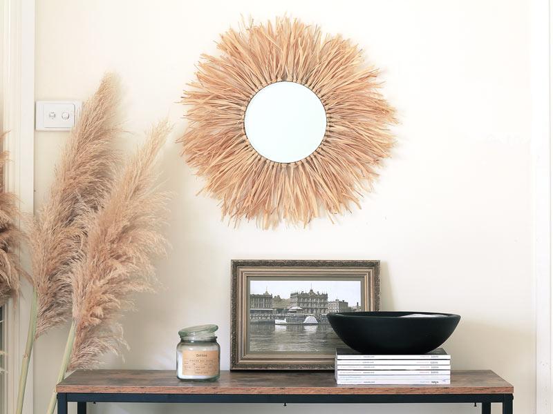 Make this Tropical-Inspired Raffia Sunburst Mirror4 min read
