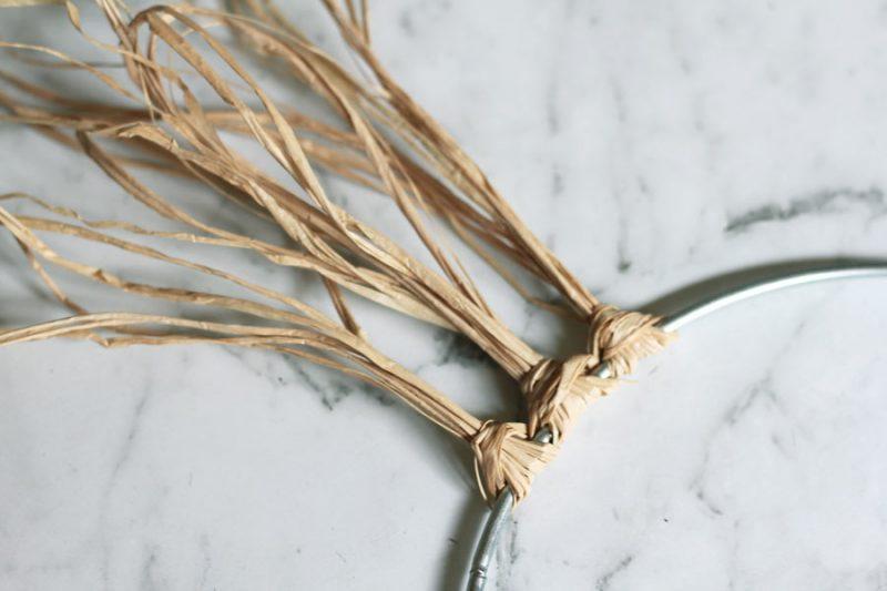 See your raffia fringe start to come together!