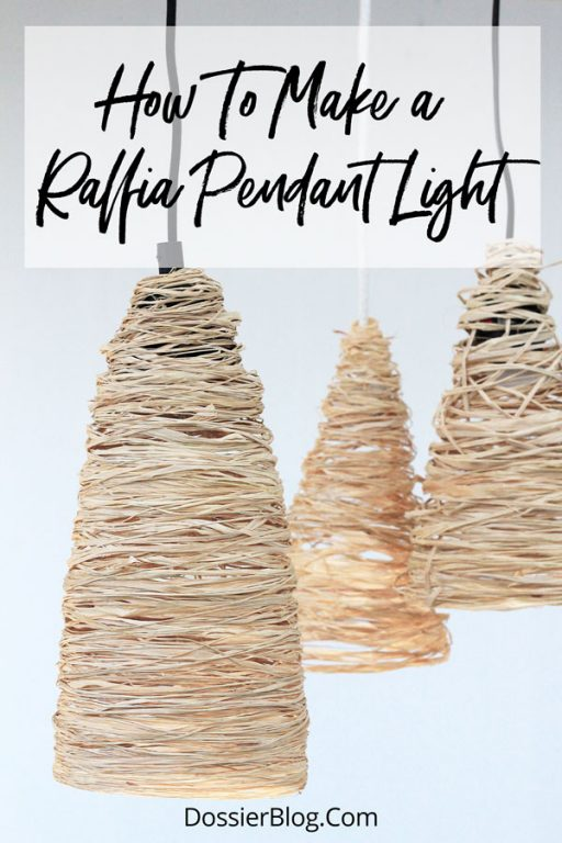 A simple DIY for under $10 - add some tropical boho vibes to your home with these raffia pendants | Dossier Blog