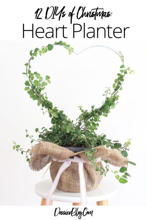 Make a heart planter present | Dossier Blog
