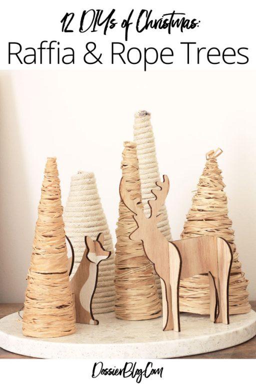 12 DIYs of Christmas - Raffia & Rope wrapped Trees   Dossier Blog