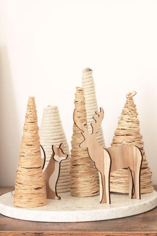 12 DIYs of Christmas - Raffia & Rope Trees   Dossier Blog