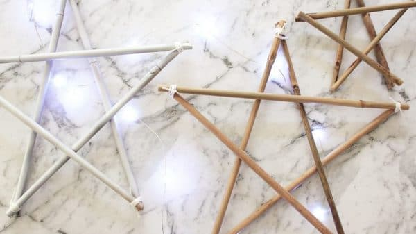 12 DIYs of Christmas: Bamboo Stars | Dossier Blog