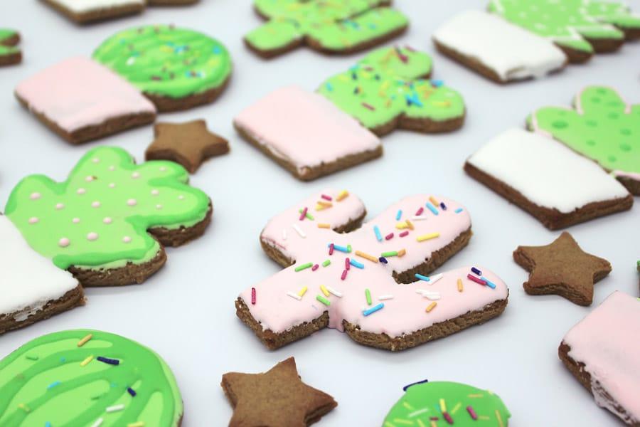 Pink Gingerbread Cactus Cookie | Dossier Blog