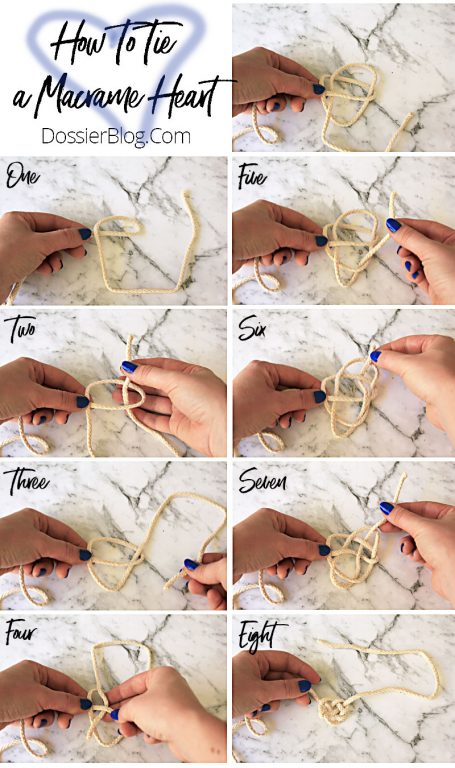 How to Tie a Macrame Heart Knot, step by step | Dossier Blog