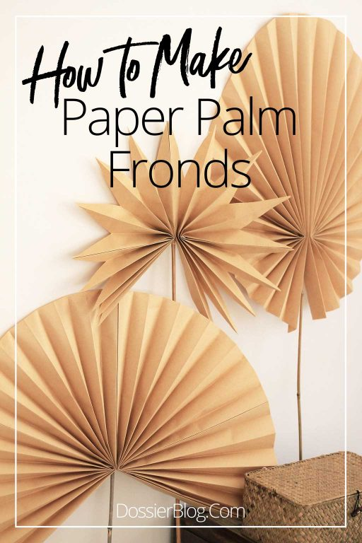 Make these paper palm frond decorations from Kraft Paper | Dossier Blog