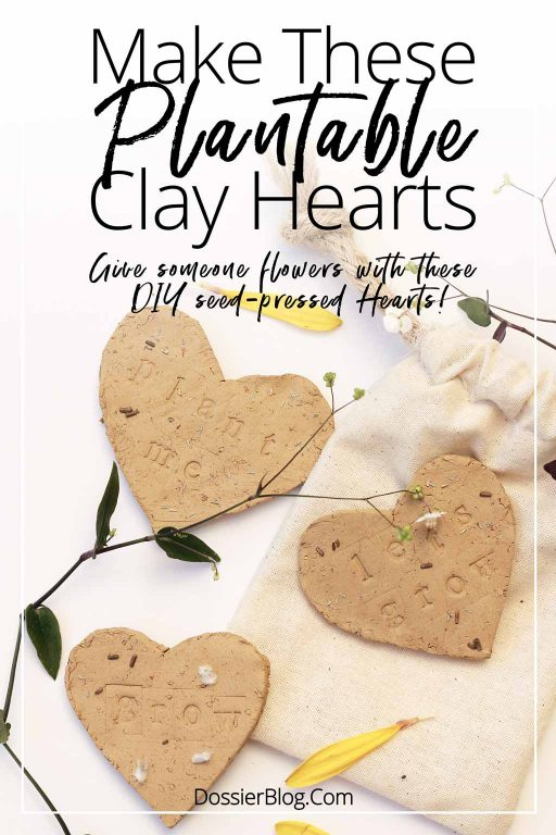 DIY plantable clay hearts that can be pressed with whatever seeds you like! | Dossier Blog