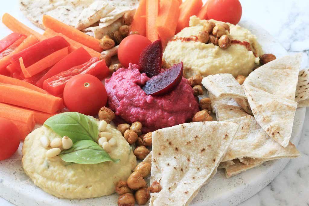 Healthy hummus three ways recipe | Dossier Blog