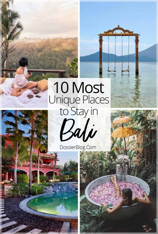 10 most unique places to stay in Bali | Dossier Blog
