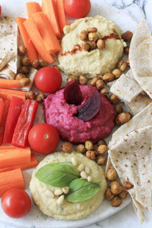 Five minute recipe: Healthy Hummus Three Ways | Dossier Blog