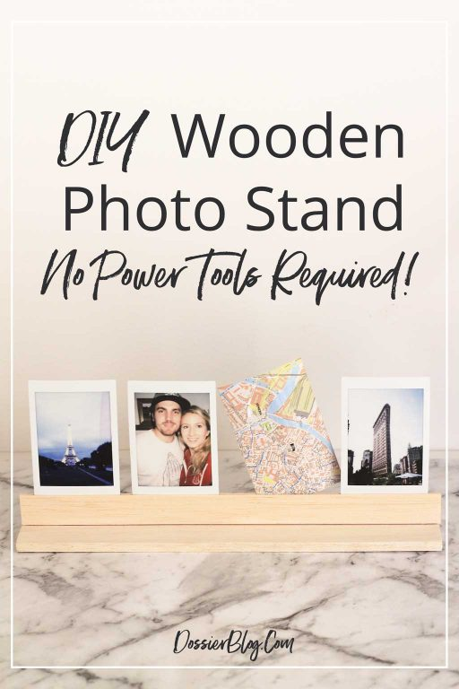 Make this easy DIY wooden photo stand from balsa with no power tools needed! | Dossier Blog