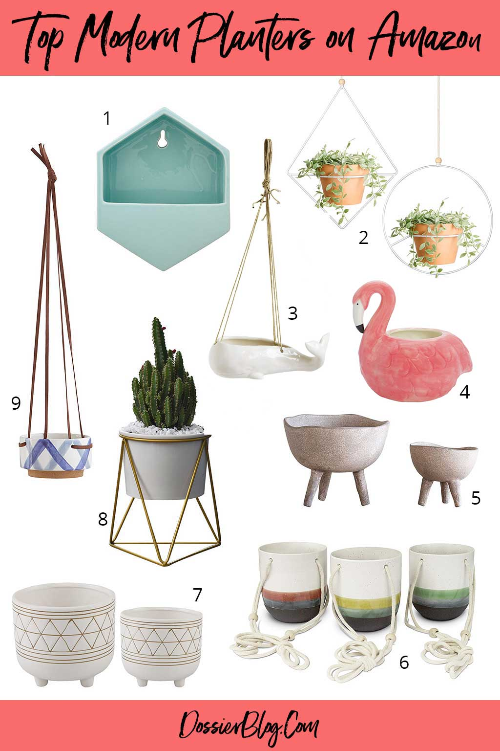 Round up: Modern planters you can find on Amazon | Dossier Blog