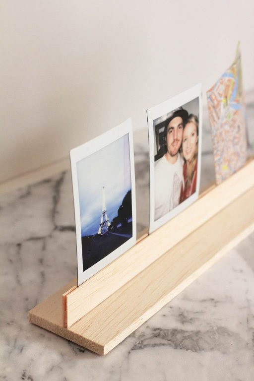 Make this easy DIY Wooden Photo Stand using balsa wood | Dossier Blog
