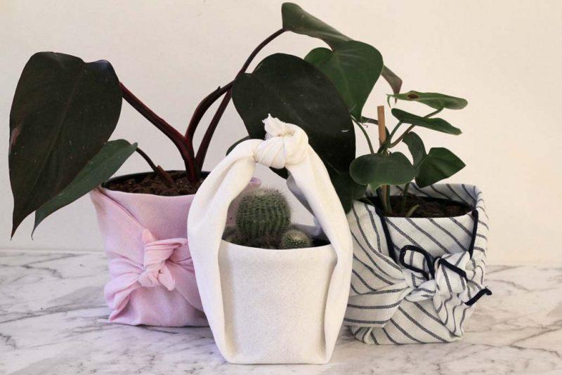 Furoshiki planters | Dossier Blog