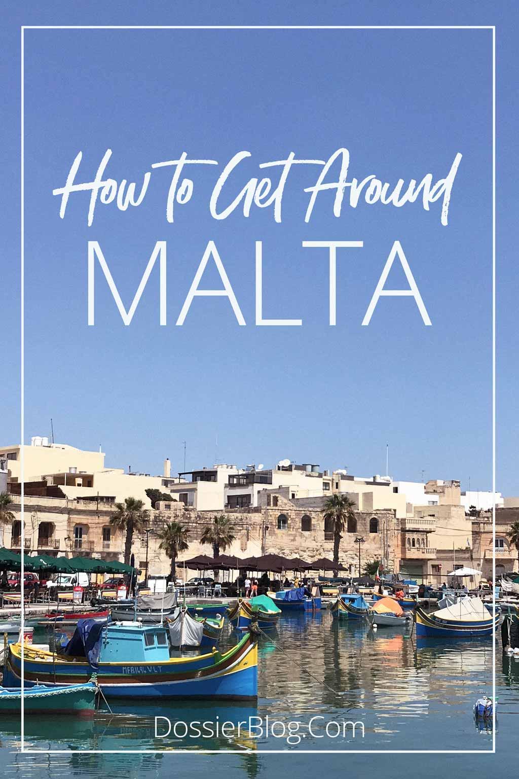 How to get around Malta | Dossier Blog