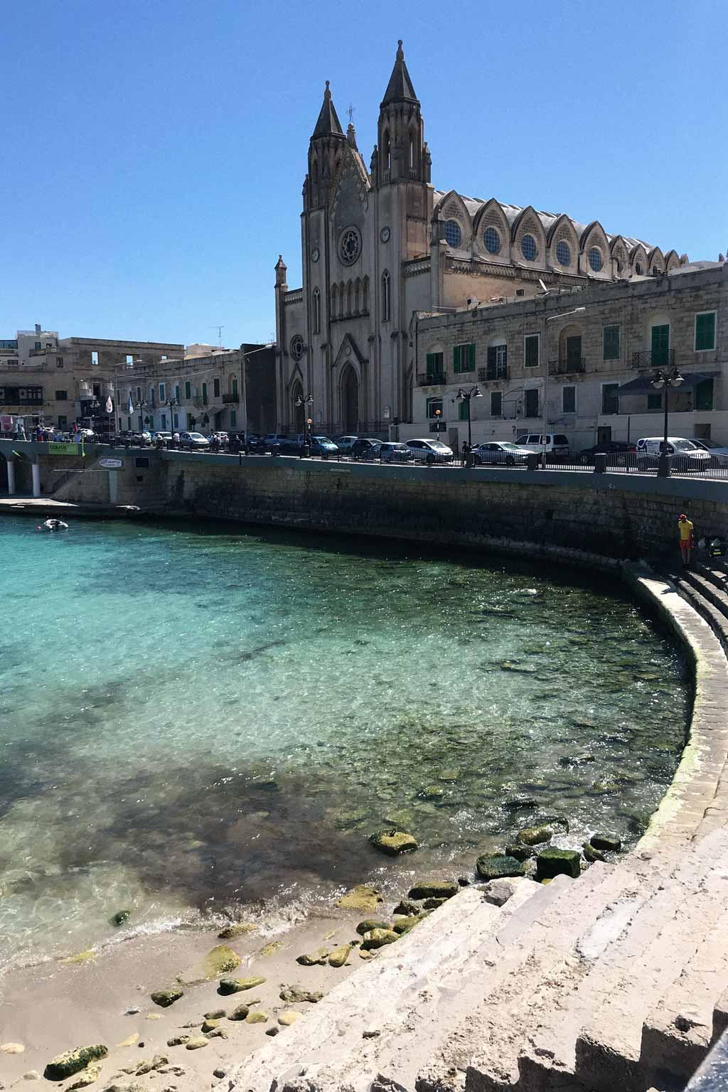 St Julian's Bay and church, Malta | Dossier Blog