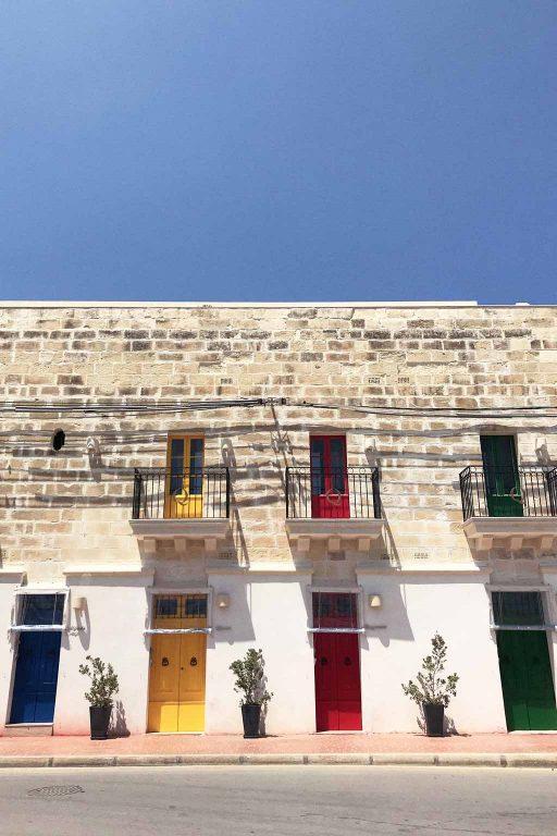 Coloured doors in the seaside fishing village of Marsaxlokk, Malta