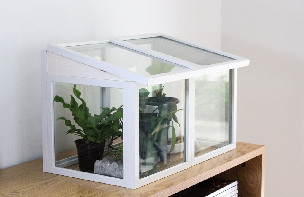 use photo frames to make this mini greenhouse | Dossier Blog