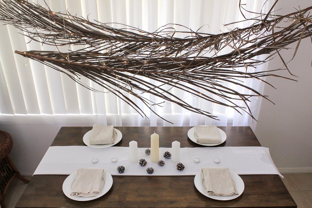 Palm frond centrepiece | Dossier Blog