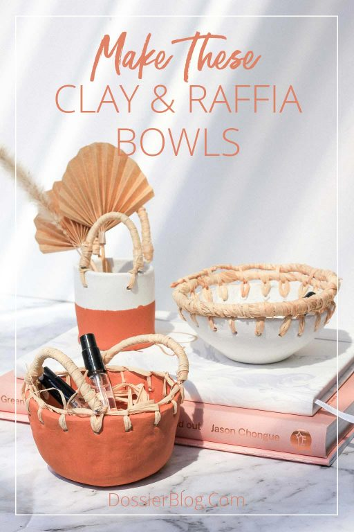 How to Make these Clay and Raffia Bowls | Dossier Blog