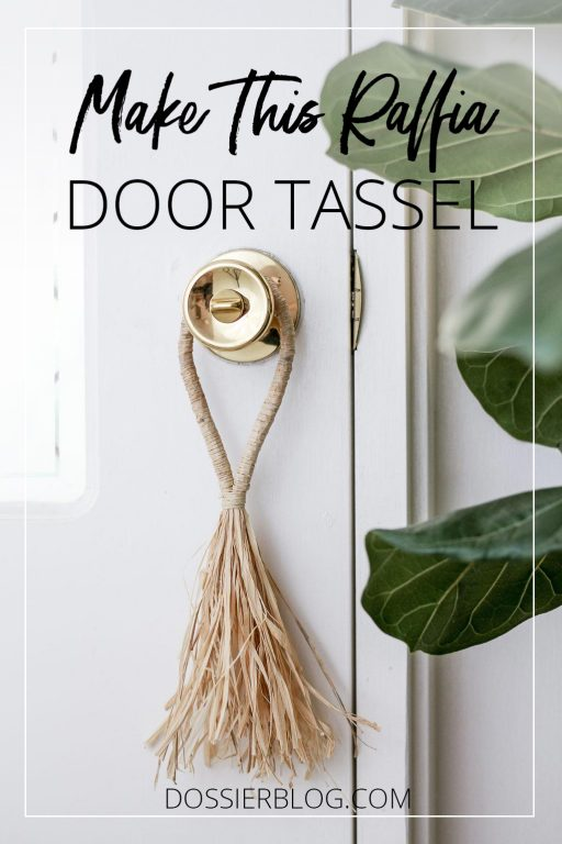 Make This Raffia Door Tassel - DIY Tutorial | Dossier Blog