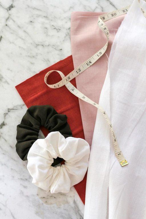 linen fabric for DIY scrunchies