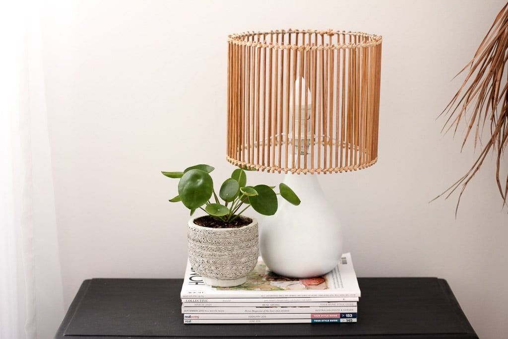 DIY rattan style lamp upcycle | Dossier Blog