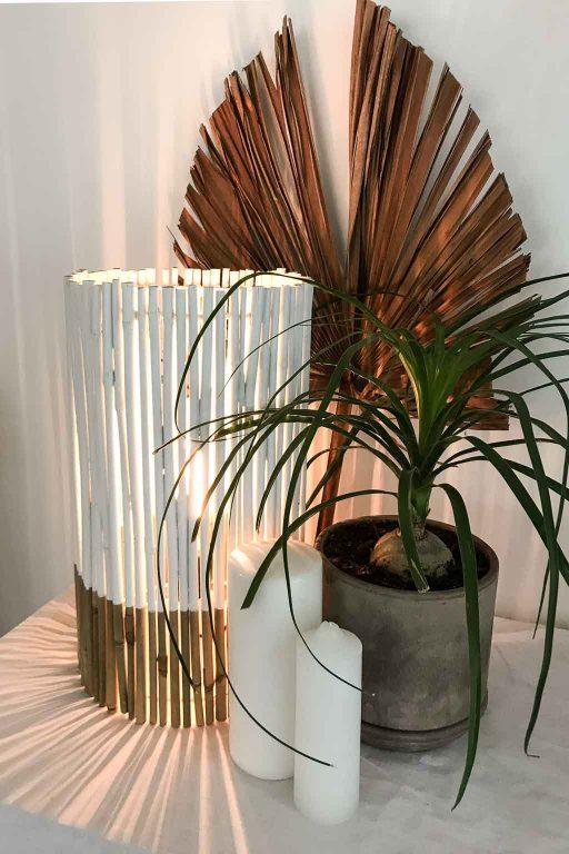 DIY bamboo table lamp | Dossier Blog